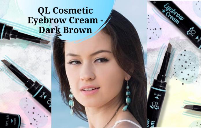 QL Cosmetic Eyebrow Cream - Dark Brown