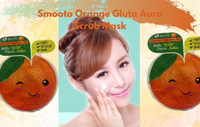 Smooto Orange Gluta Aura Scrub Mask